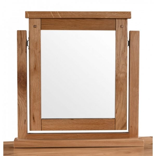 Loxley Rustic Oak Dressing Table Vanity Mirror