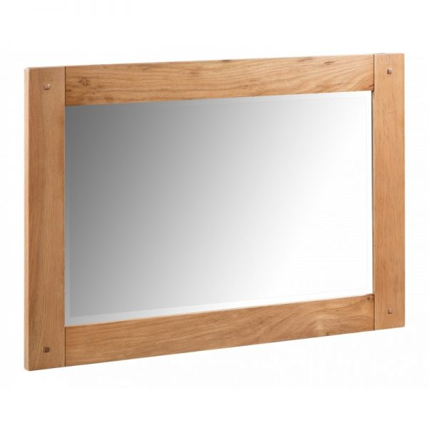 Rustic oak small mirror