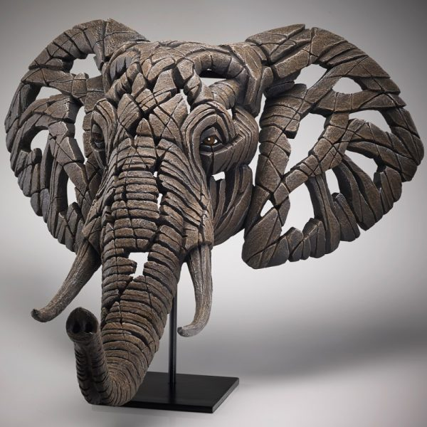 African Elephant Edge Sculpture Bust