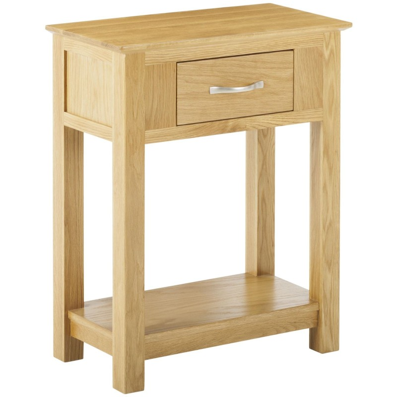 Sworth Oak Telephone Table With Drawer Console Side End Unit In Stock - Small Oak Side Table With Drawers