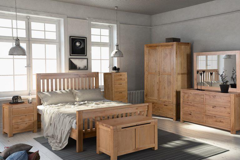 Oak beds from Progressive Furnishings