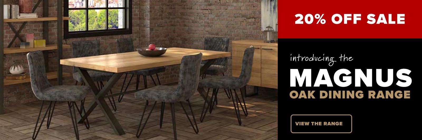 Magnus oak dining furniture