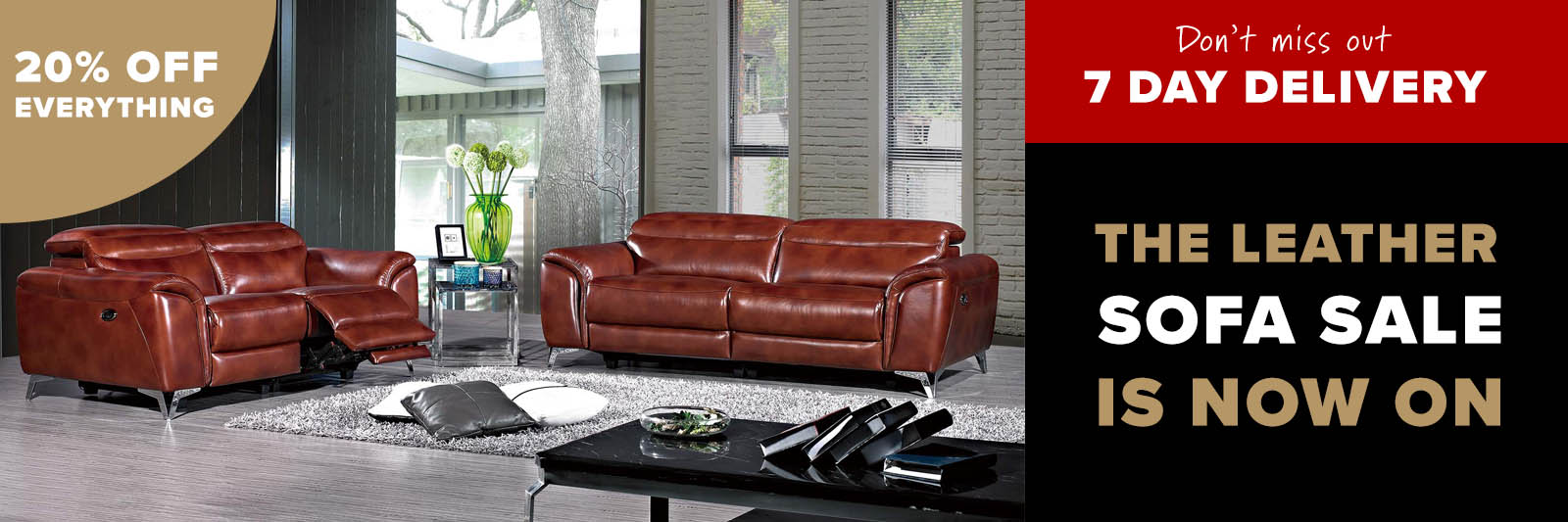 Leather sofas delivered within 7 days