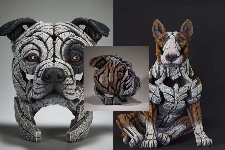 Edge Sculpture Dogs