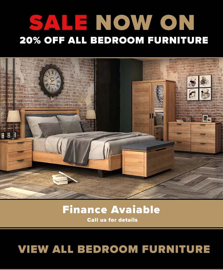 Oak bedroom furniture now on sale